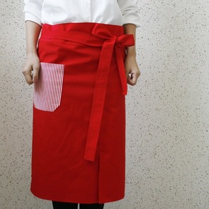 cafe apron red